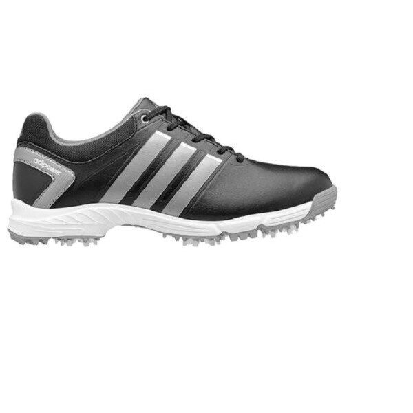 Adidas Junior's Adipower Core Black/ Metallic Silver Medium Golf Shoes