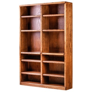 Forest Designs 72-inch Alder/ Oak Bullnose Double Bookcase