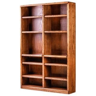 Forest Designs 72-inch Alder/ Oak Bullnose Double Bookcase