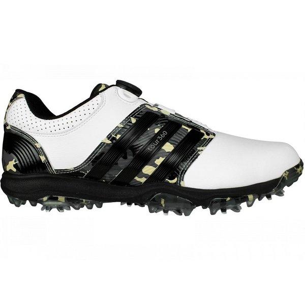 Adidas Men's Tour 360 X Boa Camo Limited Edition Running White/ Black/ Camo Golf Shoes