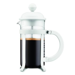 Bodum 3 cup Java French Press Coffee Maker, 12 oz, White