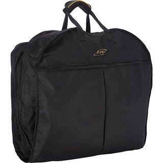 A.Saks Thin Hanging Black Ballistic Nylon Garment Carrier