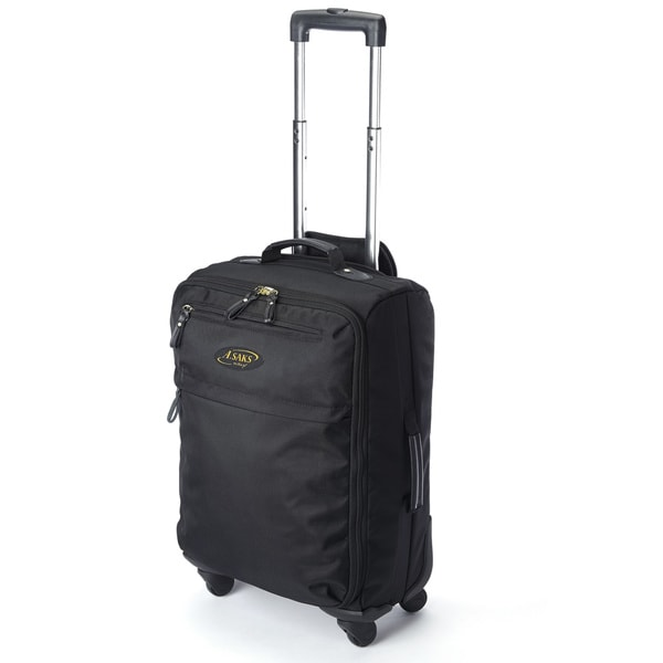 A.Saks Lightweight Black Ballistic Nylon 22-inch Carry-On Spinner ...