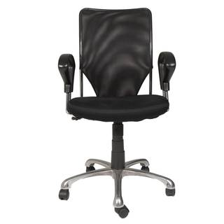 Modern Life Miller Black Mesh and Metal Office Chair