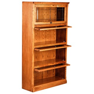 Forest Designs Alder/ Oak 64-inch 4-door Mission Legal Bookcase