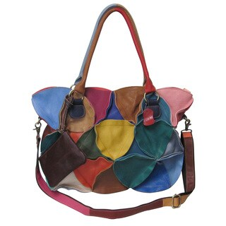 Amerileather Lotus Leather Tote Bag