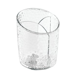 InterDesign 'Rain' Clear, Divided Cosmetics Organizer Cup