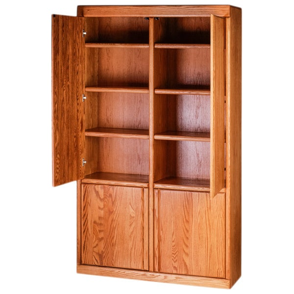Shop Forest Designs Bullnose Bookcase With Full Wood Doors Overstock 13470879