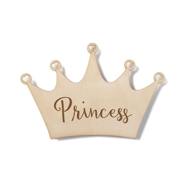 Shop Wood Princess Crown Plaque - Free Shipping On Orders Over  45 -  Overstock - 13470883 86a2551774a1