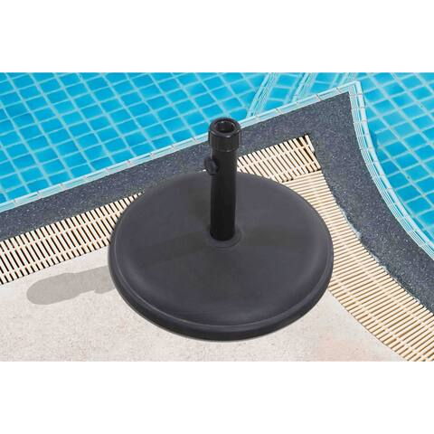Sunjoy Eileen 35 lb Black Steel Umbrella Base