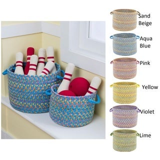 Playful 10 x 14 Basket by Rhody Rug - 10 x 14 (5 options available)