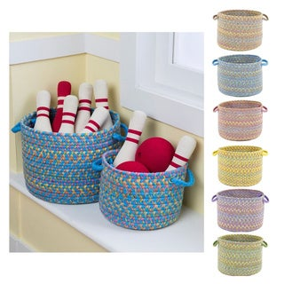 Playful 10 x 8 Basket by Rhody Rug