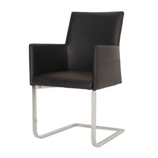 Modern Life Michele Black Synthetic Leather Dining Chair