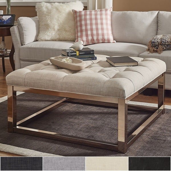 Shop Solene Square Base Ottoman Coffee Table