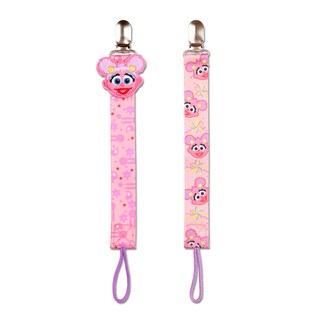 Sesame Street 'Abby' Polyester No-throw Universal Pacifier Tethers (Set of 2)