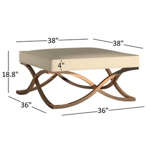 Solene X Base Square Ottoman Coffee Table - Champagne Gold by INSPIRE Q