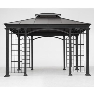 Sunjoy Summerville Black Top Gazebo (12' x 10')