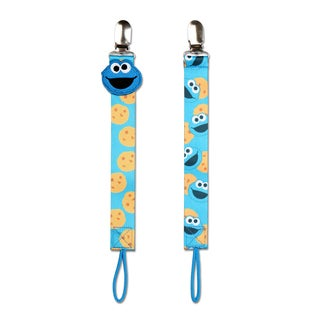 NoThrow Sesame Street Cookie Monster Univeral Pacifier Tether (Set of 2)