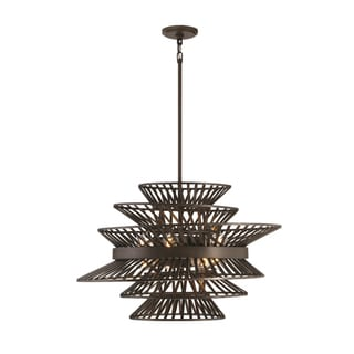 Zeev Lighting Kai Collection Oil-rubbed Bronze Metal 8-light Medium Base Transitional Chandelier