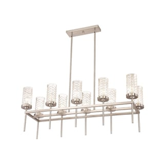 Zeev Lighting Triticus Collection Brushed Nickel Metal 10-light Medium Base Transitional Chandelier