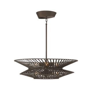 Zeev Lighting Kai Collection 6-light Oil-rubbed Bronze Medium Base Transitional Chandelier