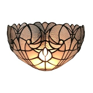 Amora Lighting Tiffany Style White Floral Wall Sconce Lamp