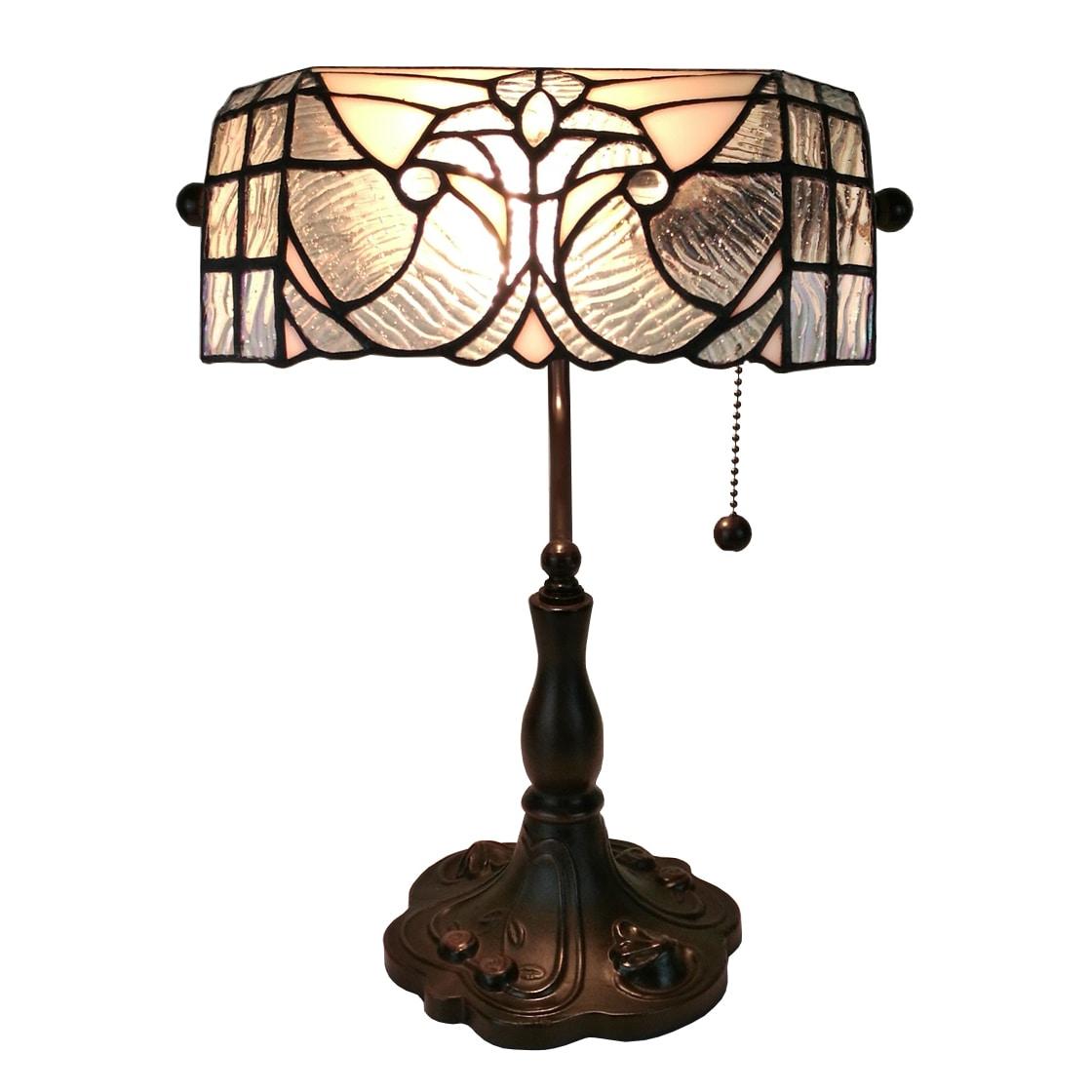 Amora Lighting Tiffany Style Fl Banker Table Lamp