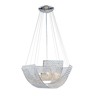 Zeev Lighting Kent Silvertone Chrome-plated Crystal Chandelier