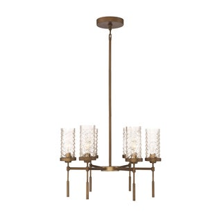 Zeev Lighting Triticus Collection Antique Brass 6-light Medium Base Transitional Chandelier