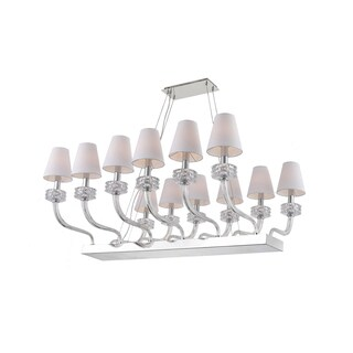 Zeev Lighting Abigail Collection Home Indoor Metal 12-light Candelabra Base Transitional Chandelier