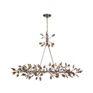 Zeev Lighting Misthaven Collection Antique Gold Finish Steel 5-light Candelabra Base Transitional Chandelier