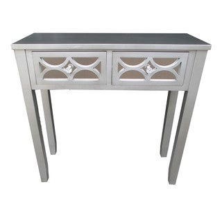 Jeco Grey Wood 32-inch 2-drawer Console Table