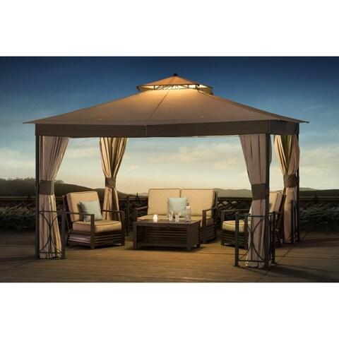 Sunjoy Belcourt Fabric Canopy Gazebo (10' x 12')