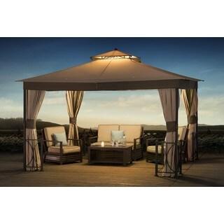 Sunjoy Belcourt Fabric Canopy Gazebo (10u0027 X 12u0027)