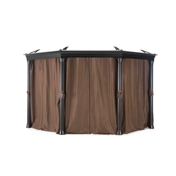 Shop Sunjoy Universal Privacy Curtain For Octagonal Gazebo