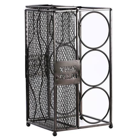 Ikee Design Metal Wine Rack and Cork Collector Holder