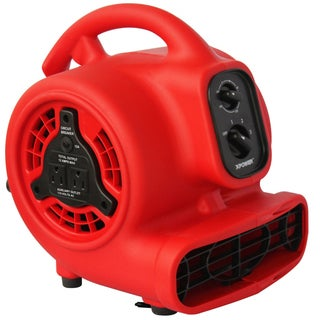 XPOWER P-200AT 1/8 HP Mini Air Mover, Dryer, Fan, Blower with Build-in Power Outlets and Timer