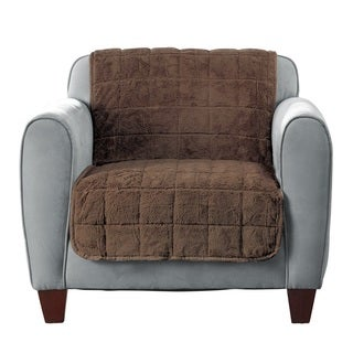 Sure Fit Faux Fur Chair Furniture Protector Without Arms