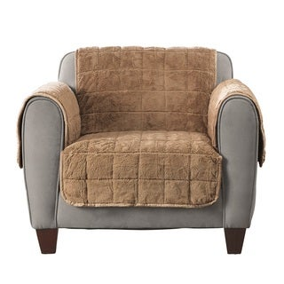 Sure Fit Faux Fur Furniture Protector Quilted Chair With Arms