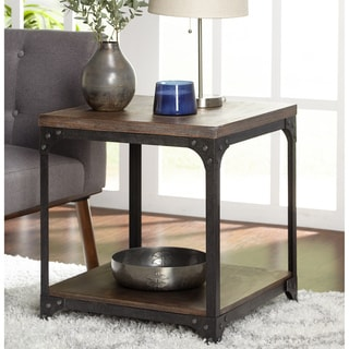 Simple Living Scholar Vintage Industrial End Table