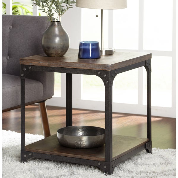 Shop Simple Living Scholar Vintage Industrial End Table Free