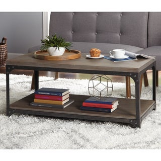 Simple Living Scholar Vintage Industrial Coffee Table