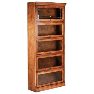 Forest Designs Mission Alder/ Oak 5-door Legal Bookcase