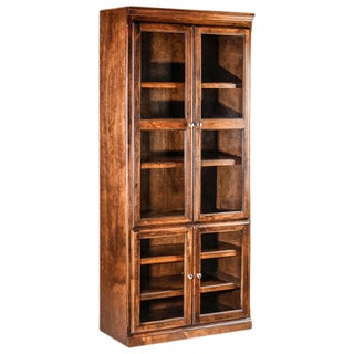 Forest Designs Mission Alder Bookcase with Full Glass Doors