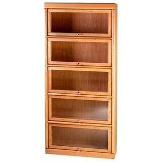 Forest Designs Bullnose Alder/ Oak 5-door Law Bookcase
