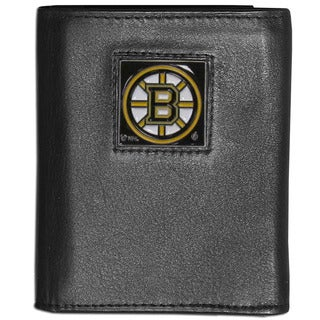 NFL Boston Bruins Leather Tri-fold Wallet