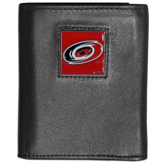 NFL Carolina Hurricanes Black Leather Tri-fold Wallet