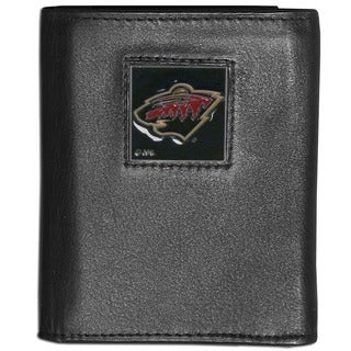 NFL Minnesota Wild Leather Tri-fold Wallet