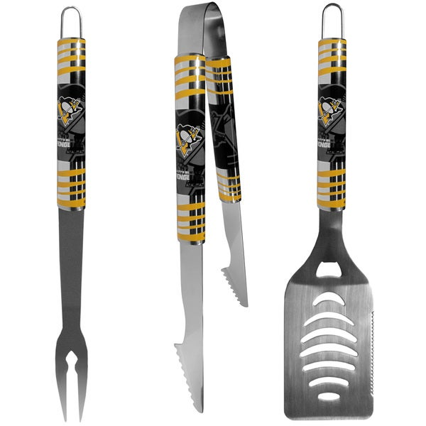 NHL Pittsburgh Penguins 3-piece Tailgater BBQ Set