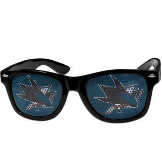 NHL San Jose Sharks Black Plastic Game Day Shades